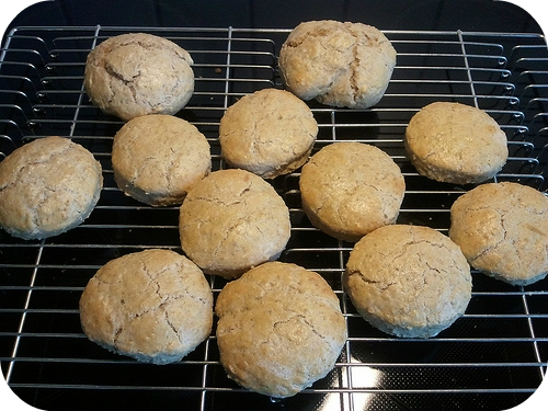 Oat scones: ready to eat