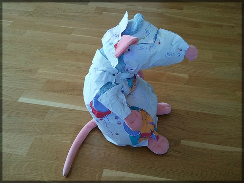 Sewing a rat
